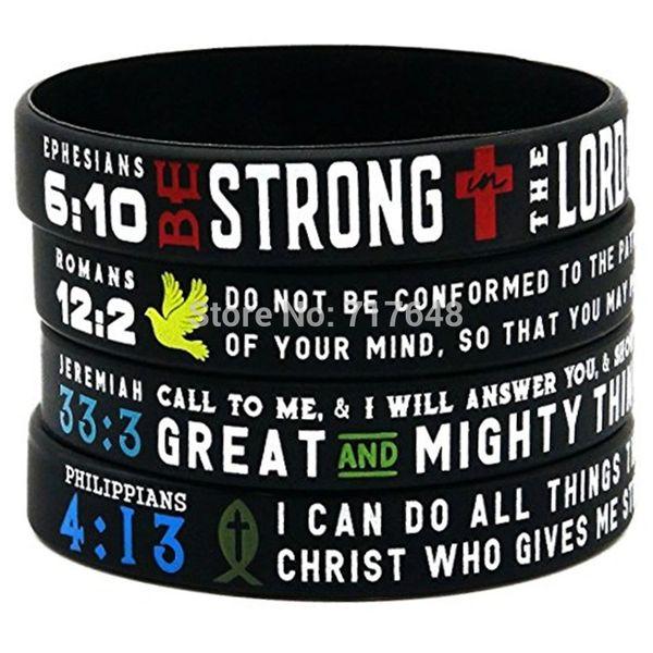 "Scripture Inspirational Rubber 1"" Bracelet"