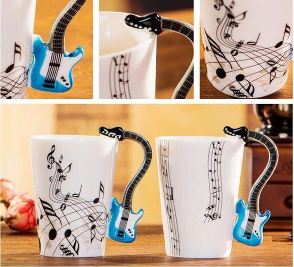 MUSICAL INSTRUMENT GUITAR COFFEE MUG CUP