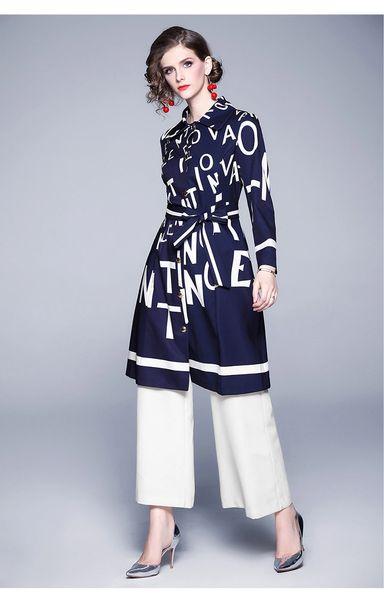 Fine Designer Letter Fashion Dress Coat