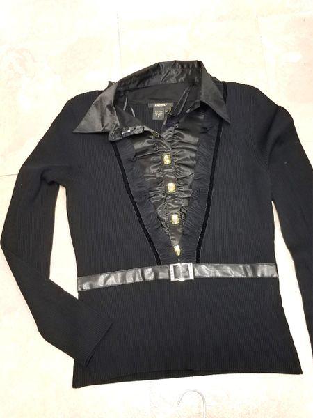 Radzoli knit Ruched Collar Blouse