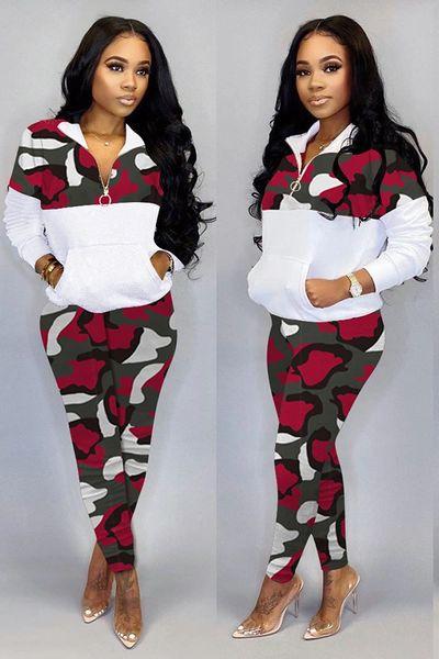 Camouflage Tw0-Piece Active Wear