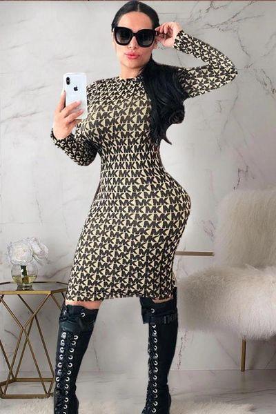 MK Inspired Long Sleeve Dress