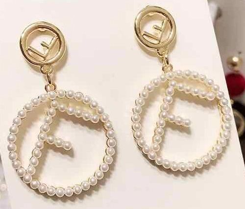 Designer Letter Inspired Earrings (Pierced)