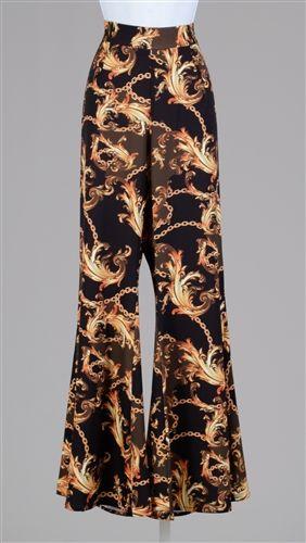 Dorinda Clark-Cole Paisley Print Designer Wide Leg Plus Size Pants