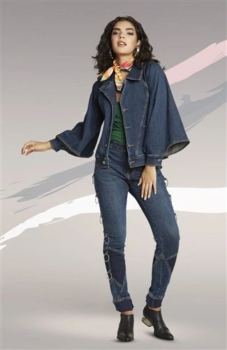 Designer Jean with Ring Accent Pants