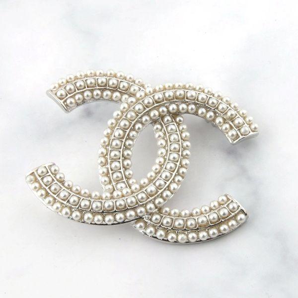 CC Pearl Brooch Pin