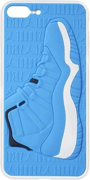 Blue and White 3D Jordan Texture Sneaker Shockproof Protective Phone Case For iPhone Series