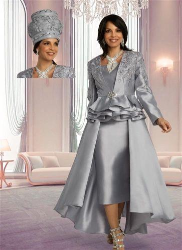 Donna Vinci 3Pc Ruffles Lace Suit