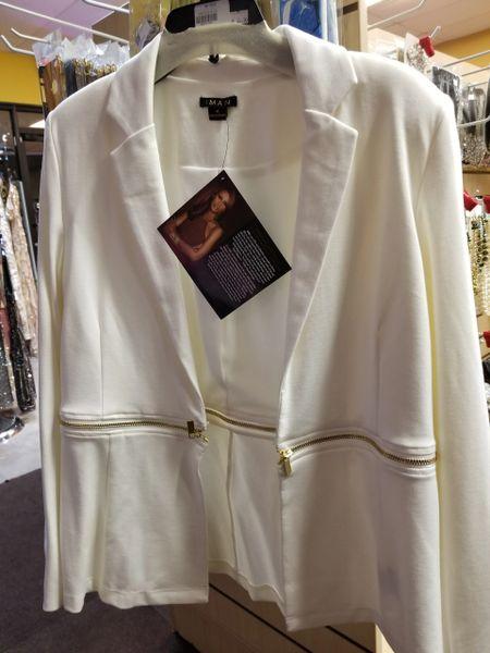 DLF0114 Iman Collared Blazer with mid-zipper