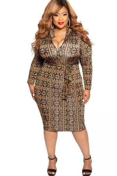 Curvy Fit Plus Size Designer Brand Fashion Dress