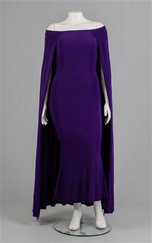 Long Off Shoulder Dress with Cape