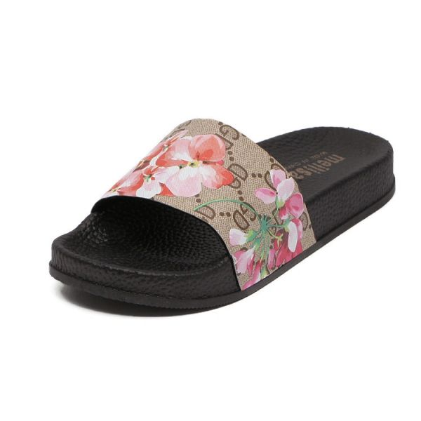 Designer Floral Pattern Slide Shoes