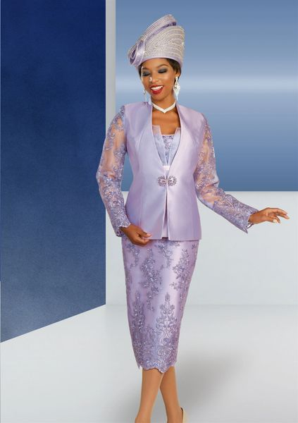 Lace and Taffeta Sheer Suit
