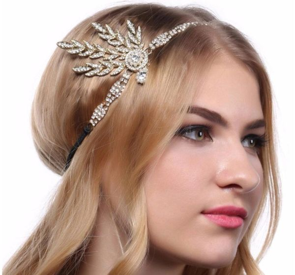 1920s Flapper Girl Headbands Great Gatsby Hair Piece