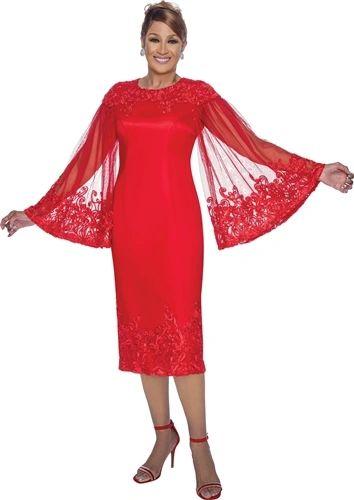 Dorinda Clark-Cole Flare Sleeve Dress