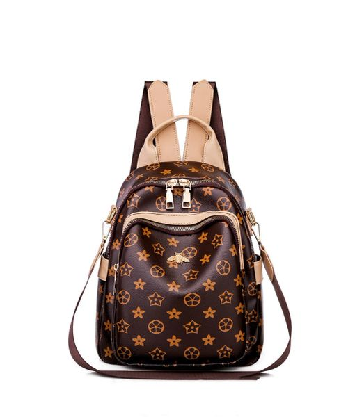 Leather Symbol Backpack Purse