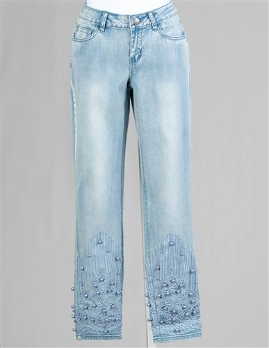 AZI Embellished Denim Jean