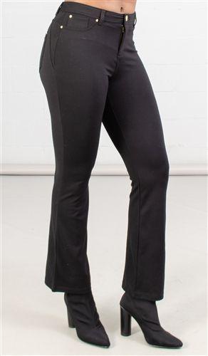 Iman Plus Size 5 Pocket Boot Leg Knit Pant