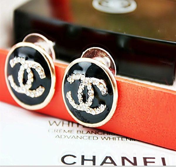 DL205071 Chanel Emblem Post Earrings