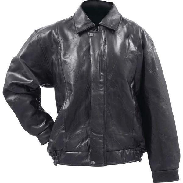 Genuine Buffalo Leather Bomber Jacket