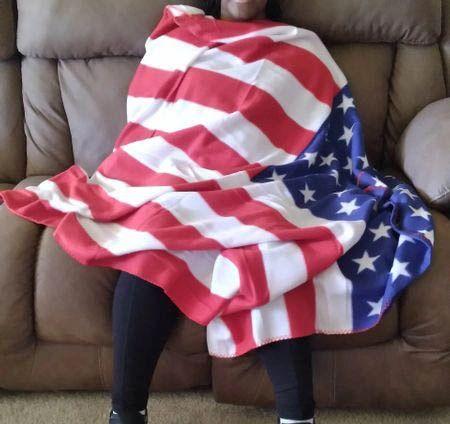 U. S. Flag Throw