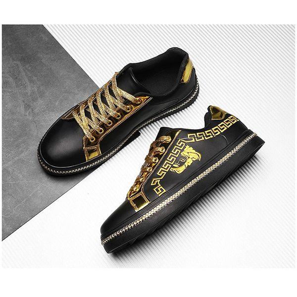 Neoclassic V Design Embellished Leather Sneaker Shoes