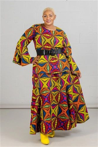 Authentic African Print 2pc Skirt Set