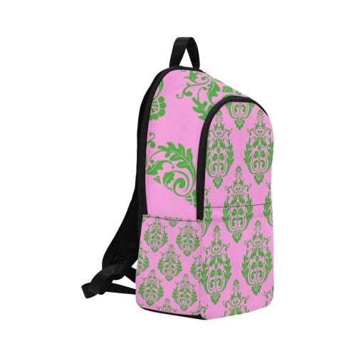 Ivy Green & Pink Design Backpack