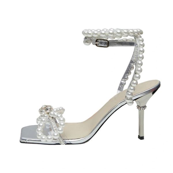 Wedding Shoes Pearl Rhinestone Sandal Shoes