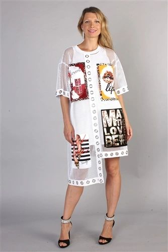 May the Love Be With You Grommet Dress