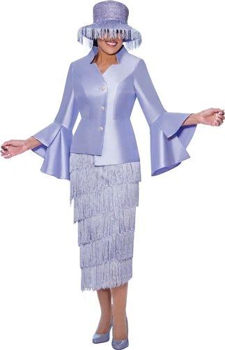 Dorinda Clark Cole Fringe Bell Sleeve Suit
