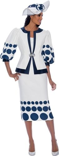 Designer 3 pc Skirt Suit Set