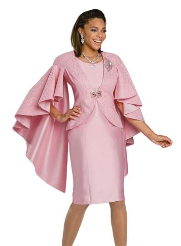 Donna Vinci Cape Flutter Sleeve 3 pc Suit