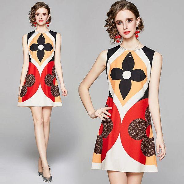 Iconic Design Colorblock Mini Length Dress