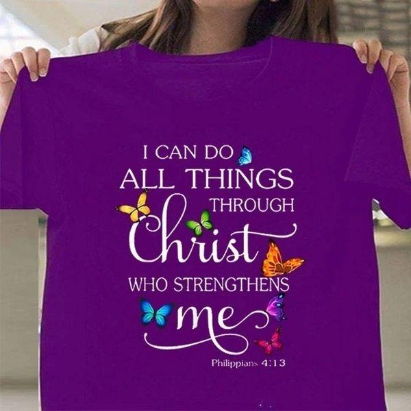Philippians 4:13 Cotton T Shirts