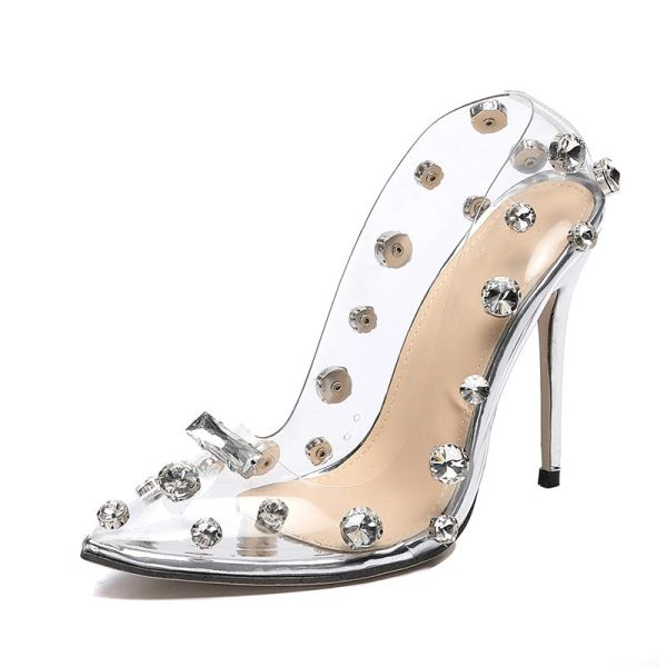 Cinderella Crystal Studded Shoes