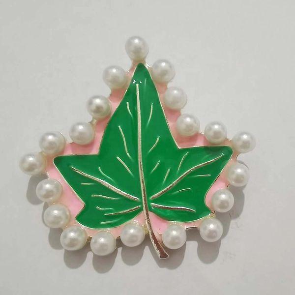 Ivy Leaf Pearl Brooch