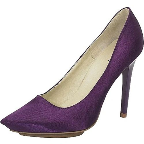 DLS01100 MIKAELA - Smooth Satin Purple Pumps
