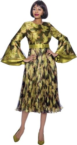 Asian Inspired Bell Sleeves Fashion Dress