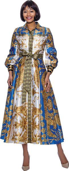 European Inspired Print Silk Lined Dress