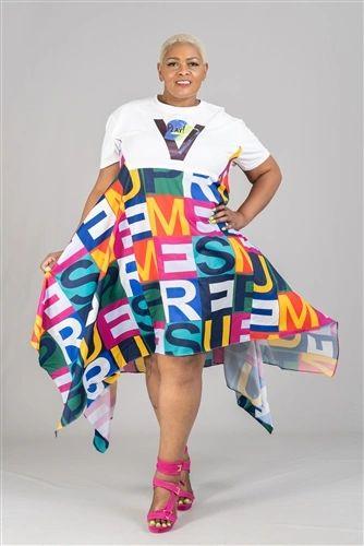 Print Design Shark Tale Fashion Dress