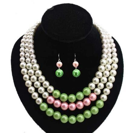 Pearls - Alpha Kappa Alpha Pearl Necklace Set