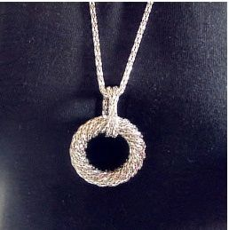 Spunned Ring Pendant Necklace