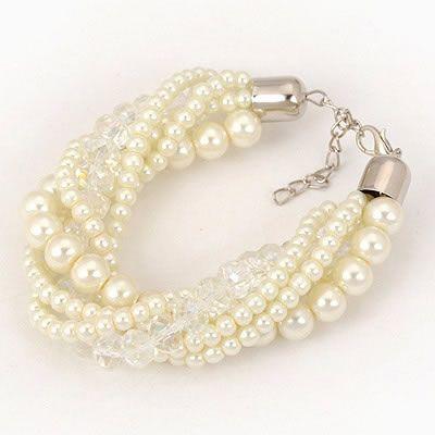 Pearl & Crystal Twist Bracelet