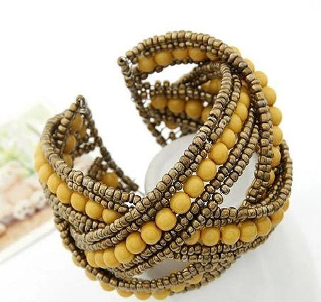 Handmade Beaded Criss Cross Bracelet