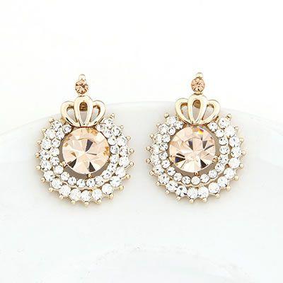 Princess Jeweled Diamond Accented Earrings