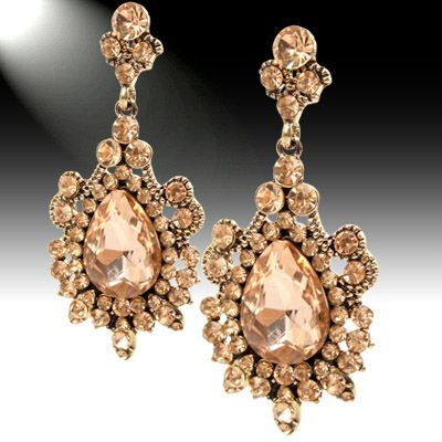 488303 Sparkling Gem Chandelier Earrings