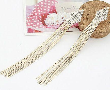 3 inch Diamond Shape Tassel Earrings