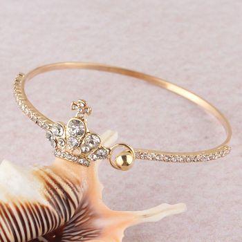 DL532191 Crown Accent Ladies Bracelet
