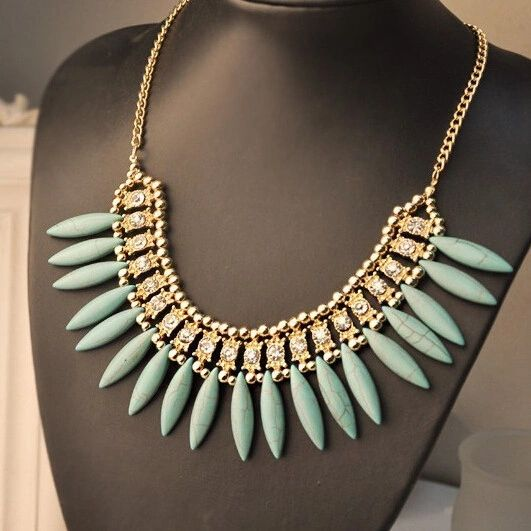 DL901197 Bohemian Jeweled Necklace